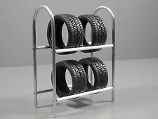 Aluminum Tire Wheel Rim Rack Stay simulation for Scale 1/10 Tamiya Remote Car