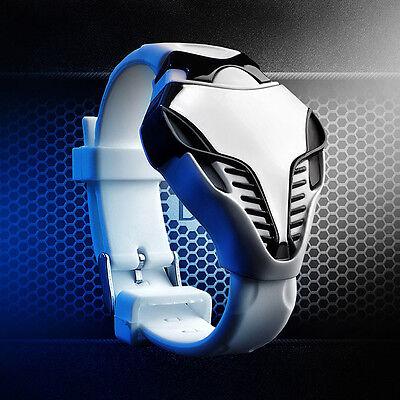 Cool LED Digital Watch Men's Boy Cobra Triangle Dial Silicone Sports Fashion