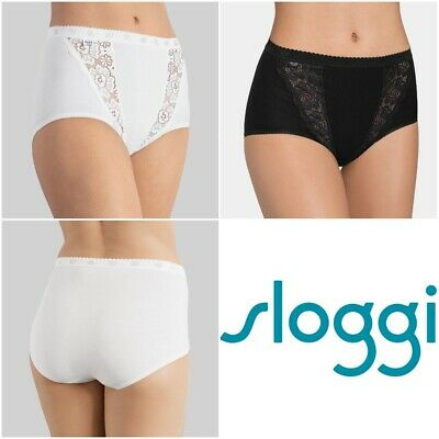Sloggi Chic Tai Briefs Knickers 10071654 Womens Knickers 4 Pack Multipack