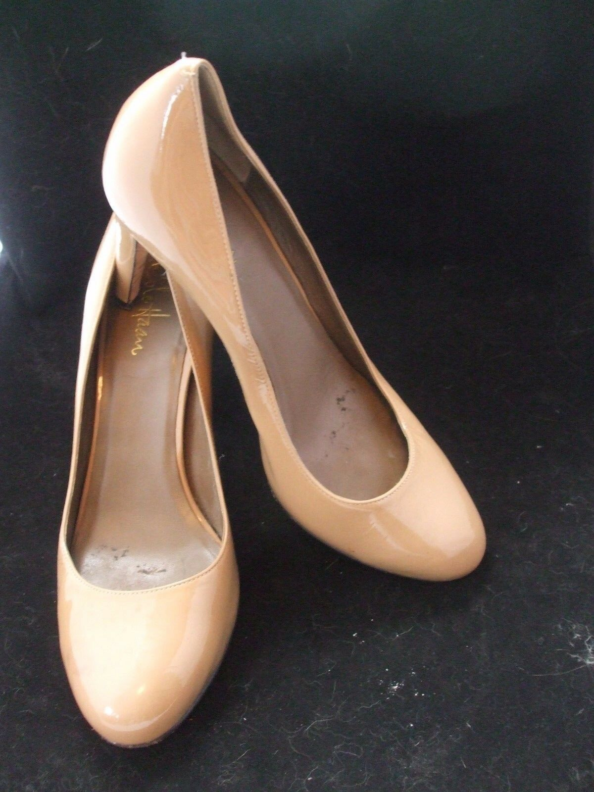COLE HAAN NIKE AIR Tan Patent Leather Round Toe Classic Pumps 9B