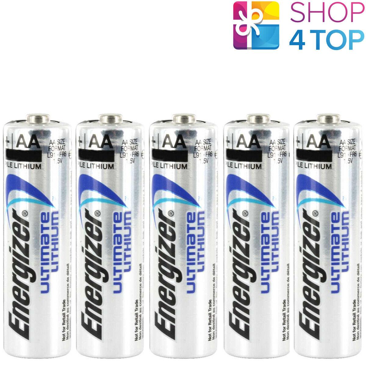 5 Energizer AA Ultimate Lithium L91 Batteries 1.5V Mignon Stilo LR6 NEW