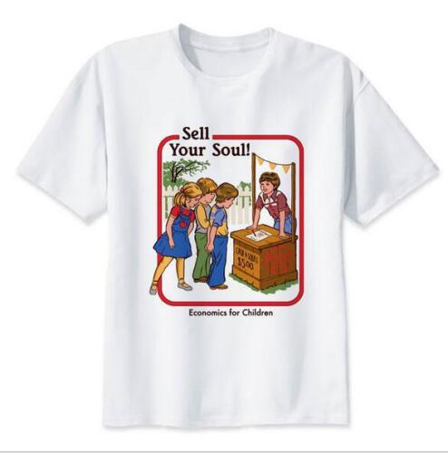 Man/'s T-shirt Sell your Soul Letter Printed O Neck Short Sleeve T-Shirt S-5XL