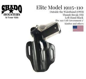 SHADO-Leather-Holster-USA-Elite-Model-19115-110-Left-Hand-Black-OWB-TB-1911