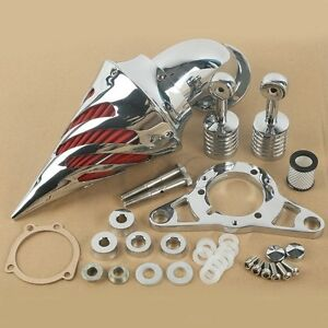 Kit-Filtro-Aria-a-Cono-Cromo-per-Harley-Davidson-Touring-Road-King-2002-2007