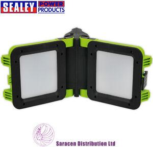SEALEY-RECHARGEABLE-FLOODLIGHT-20W-SMD-LED-FOLDING-CASE-LED190T