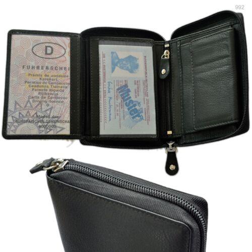Porte-monnaie avec RFID Protection Bord Glissière tiroir secret Grand schüttfach