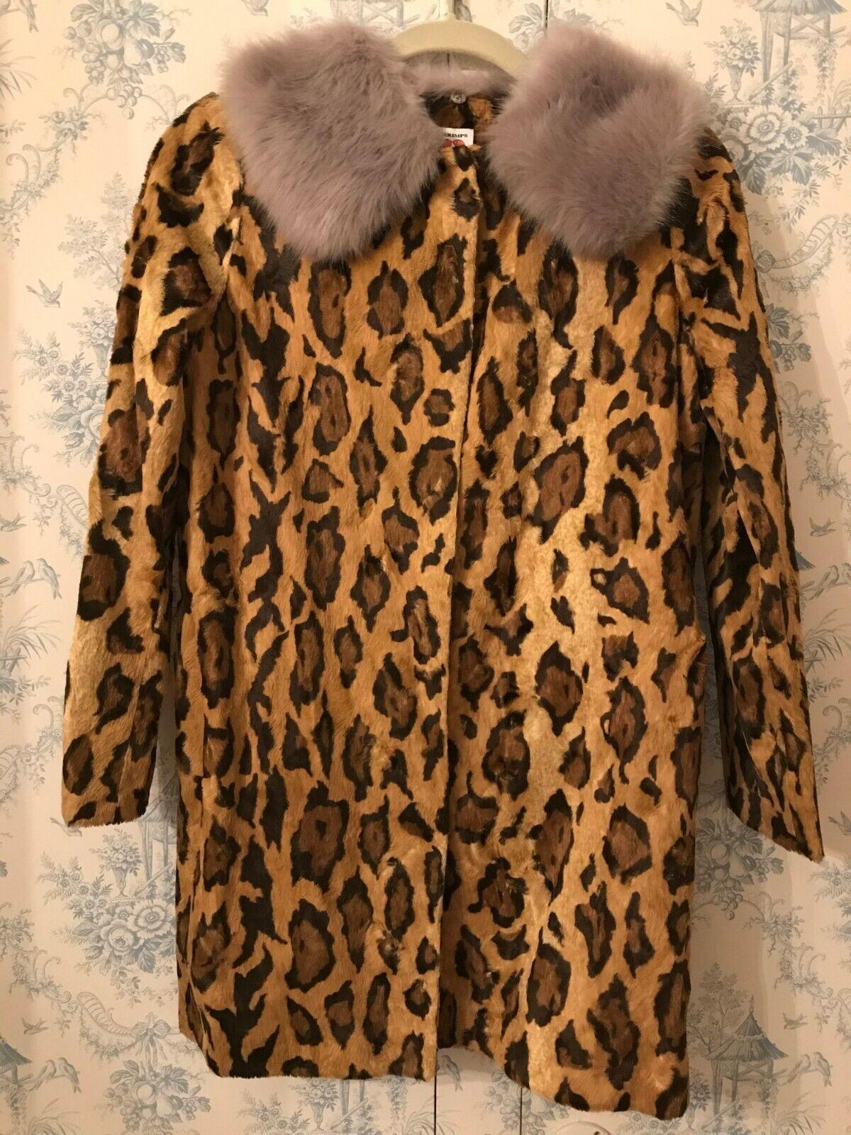 Shrimps Papa Puss faux fur brown leopard animal p… - image 3