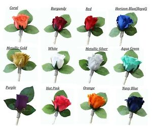 Rose-boutonniere-Coral-Horizon-Blue-Navy-Red-Burgundy-Prom-wedding-red-spa-gold