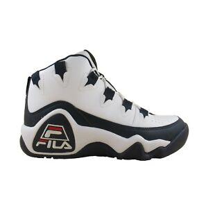 Detalles de Para Hombre Fila Grant Hill 1 Retro Atléticas Zapatos de baloncesto 1BM00636 Blanco Rojo Azul Marino ver título original
