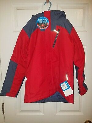 NEW Columbia Whirlibird II Interchange 3-in-1 Jacket Youth Red Omni-Shield XL