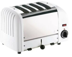 Dualit-Classic-Vario-Four-Slot-Toaster-4-Slice-White-and-Stainless-Steel-Finish