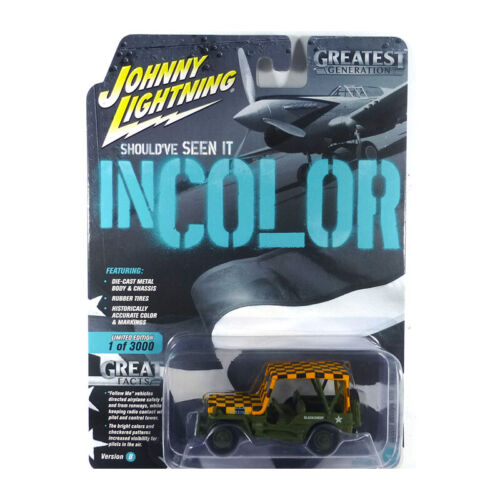 Greatest Generation 1:64 NEU!° Johnny Lightning JLML004B-1 Willys MB Jeep grün