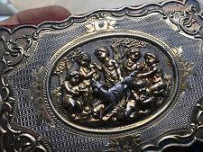 Exceptionnel Carnet de Bal Argent Massif Vermeil Putti Anges XIX 19 ème