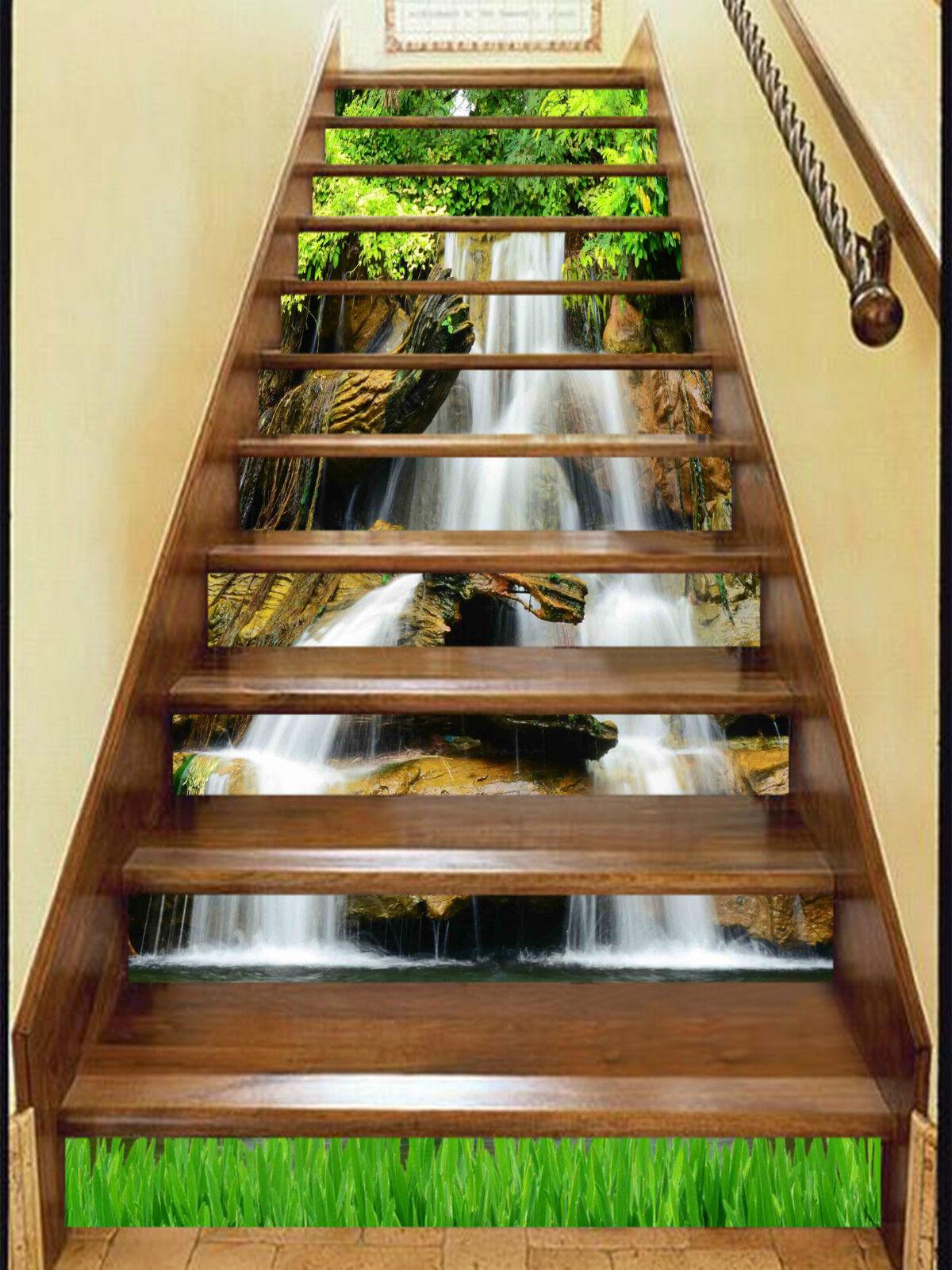 3D Schne Bach 0032 Stair Risers Dekoration Fototapete Vinyl Aufkleber Tapete DE