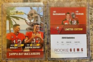 2020 Tom Brady & Rob Gronkowski Limited Edition Tampa Bay Buccaneers Card.