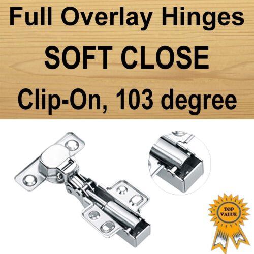 Door Kitchen Cabinet Cupboard Soft Close Hinge Full Overlay //Half Overlay// Inset