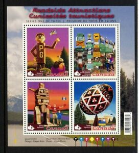Canada-2009-Roadside-Attractions-Miniature-Sheet-Never-Hinged