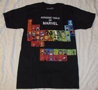 MARVEL COMICS MENS T-SHIRT THE PERIODIC TABLE OF SUPERHEROES XL X-MEN  AVENGERS!