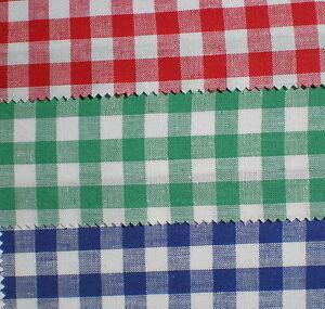 Bauer Vichy Cuadriculado Tela Color Rojo Azulverde Ebay