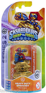 Skylanders-Swap-Force-HEAVY-DUTY-SPROCKET-Reposed-Series-2-Single-Figure-BNIP