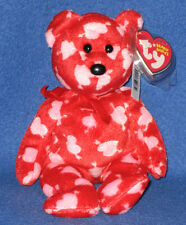 469d3cfc8c3 Ty Beanie Babies Borders Cupid s Bow Red   Pink Bear 2007 MWMT for ...
