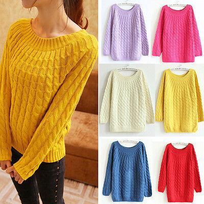 Women's Casual Long Sleeve Knitwear Jumper Cardigan Coat Jacket Sweater 8 Colors