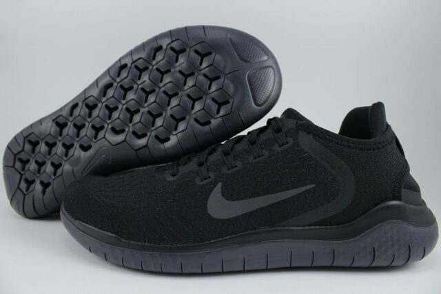 new style 86efd f53c4 NIKE FREE RUN 2018 BLACK ANTHRACITE DARK GRAY RUNNING RN FLEX KNIT US WOMEN  SIZE