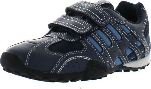 Geox Boys Jr Snake Boy Navy Avio Casual Leather Fashion Sneakers