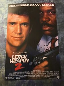 GFA-Lethal-Weapon-2-DANNY-GLOVER-Signed-Autograph-12x18-Photo-PROOF-AD1-COA