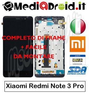 XIAOMI-REDMI-NOTE-3-PRO-SE-NERO-VETRO-TOUCH-SCHERMO-DISPLAY-LCD-FRAME-COMPLETO