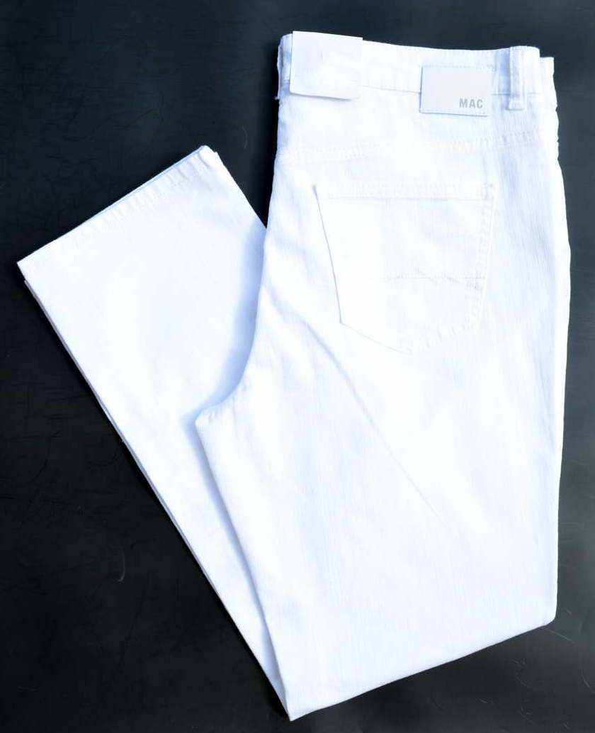 MAC Jeans ANGELA weiß  Stretch Weiß Denim Gr.46  L28 straight slim fit  NEU