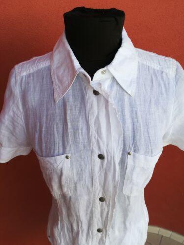 Manteau en lin Sport blanc Obbia long Marella Modᄄᄄle Tg 40 3RjL54qA