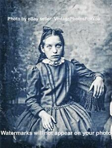 Details about Vintage/Old 1800s Creepy/Scary/Weird/Strange Demon/Vampire  Little Girl Photo