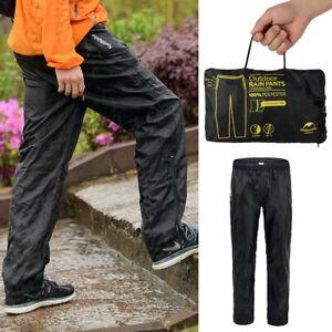 Classic-Waterproof-Work-Rain-Pants-Cycling-Hiking-Over-Trousers-Men-Women-Black