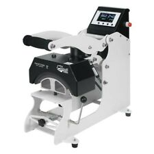 Used 5x Hpn Signature Series Auto Open Cap Heat Press With Extra Platens