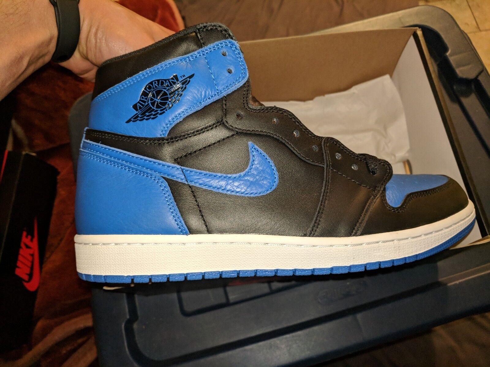 Nike Air Jordan 1 Royal bluee high retro og 2017 Men's Size 11.5