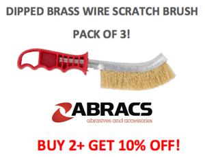 Abracs ABWBSCRATCH General Purpose Brass feux Scratch Brush