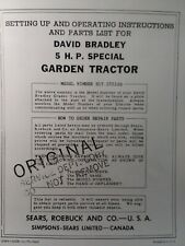 Sears David Bradley 5 Hp Special 917575100 Walk Tractor Owners Amp Parts Manual