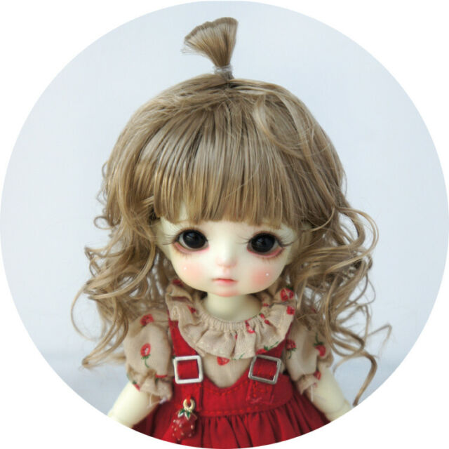 1//8 BJD Doll Wigs 5-6inch Synthetic Fiber Doll Hair Bobo Hairstyle Custom