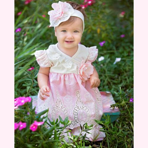 Haute Baby Boutique Infant Girls Pant Set PEACH BLOSSOM 0//3-24M EXCLUSIVE NEW