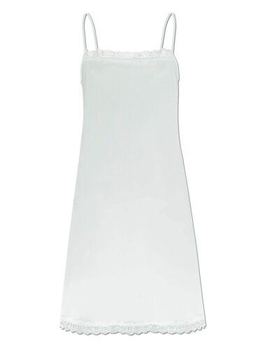 Cybele Femmes bretelles robe//chemise de nuit 7-800376 Taille 36-50 in Blanc O Noir