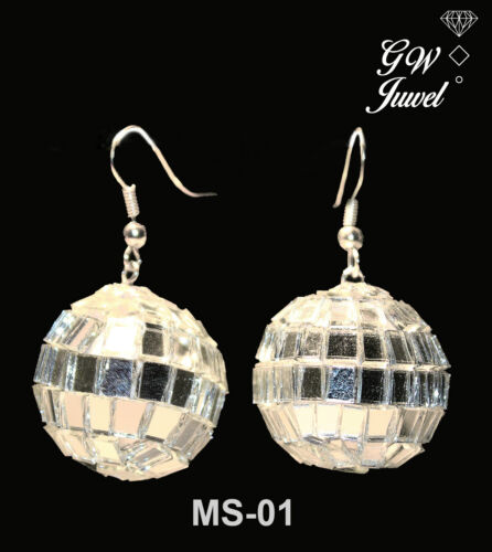 Ohrringe Mini Diskokugel Weihnachten Party Christbaum MS-01