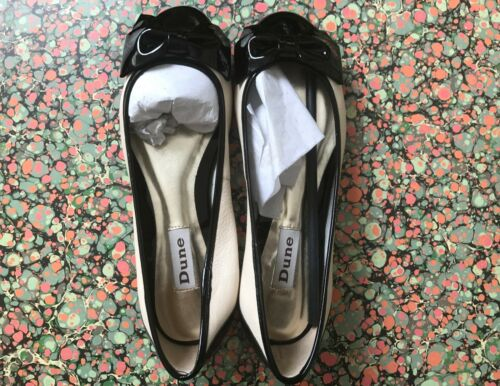 Cape in Black Dee Dune Ballerinas pelle Bow UK Punta Bnib Ladies White 5 xCOqSWRU