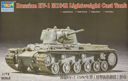 TRUMPETER® 07233 Russian KV-1 M1942 Lightweight Cast Tank in 1:72