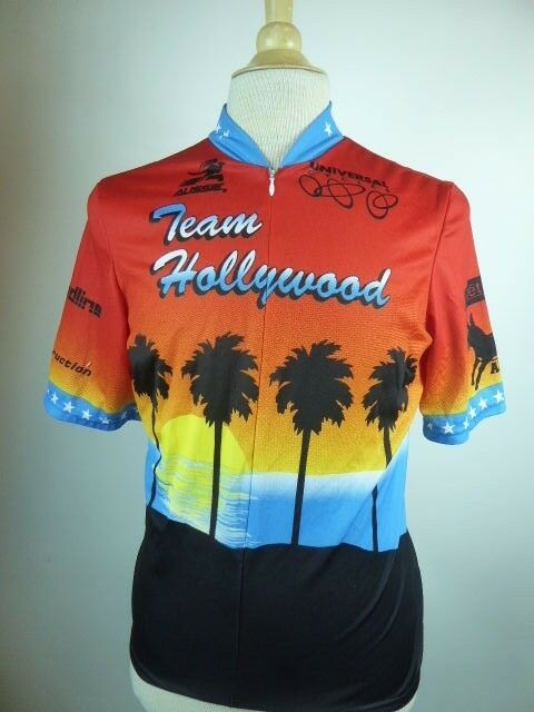 AUSSIE TEAM HOLLYWOOD RED SUNSET CYCLING JERSEY L excellent rare
