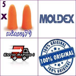10 TAPONES MOLDEX ORANGE TAPON ANTIRUIDO COMODO 5 PARES BOLSA INDIVIDUAL