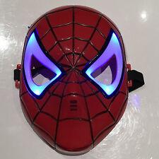 NUOVO Spiderman Light Up LED Bambini Maschera Festa Maschera Costume Di Halloween Pipistrello UK SELLR