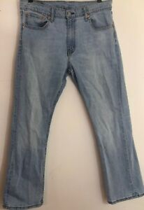 Mens-Vintage-Levis-Jean-527-Red-Tab-Copper-Rivets-34-X-28-Light-Wash