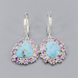 Turquoise-Earrings-Silver-925-Sterling-Fashion-Earrings-Women-E41047