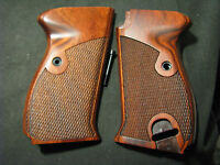 Walther P38 P1 P4 Rosewood Checkered Pistol Grips W/screw Rich Coloring